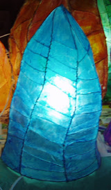 Lámpara llama azul