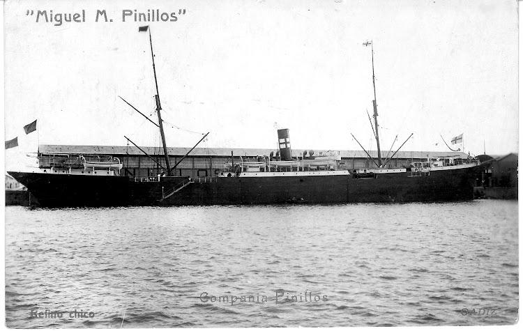 El vapor MIGUEL M. PINILLOS en Cadiz. Fecha indeterminada. Colección Jaume Cifre Sanchez. Nuestro agradecimiento.jpg
