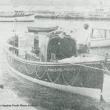 Thomas Kirk Wright - being brought up the slipway to become a 'museum boat'