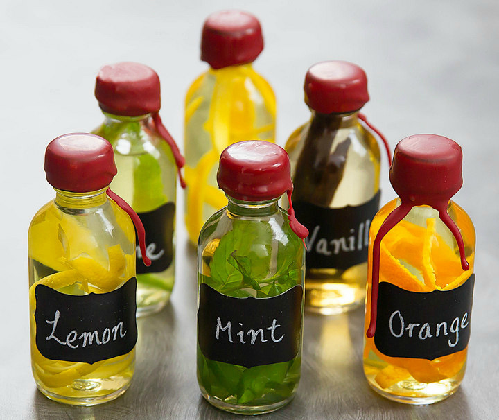 bottles of homemade extracts