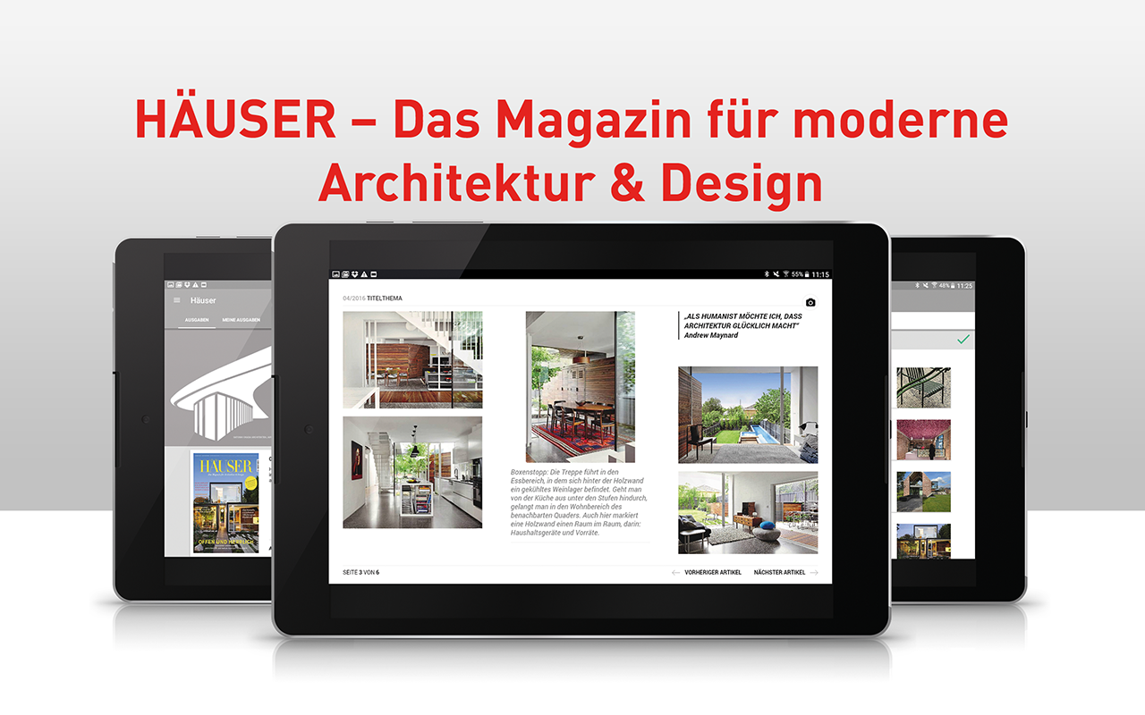 Häuser magazin screenshot