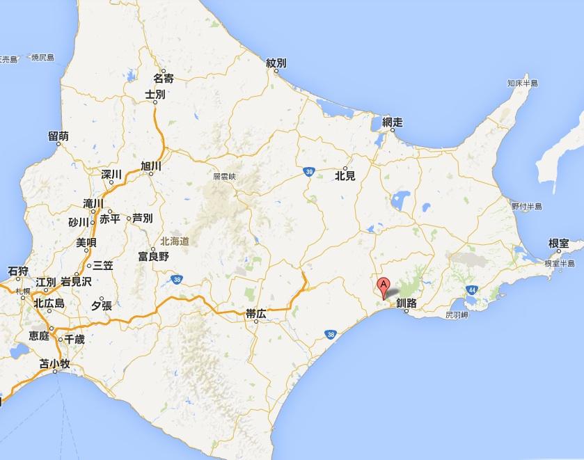 たんちょう釧路空港・地図