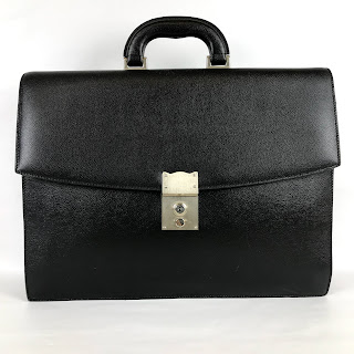 Barneys New York Black Leather Attache