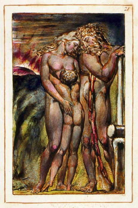 William Blake Copy G Plate 21 From The Book Of Urizen 1794, William Blake
