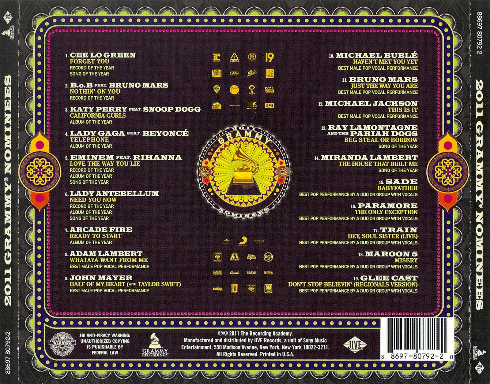 Popn Underground Music: 2011 Grammy Nominees - VA Music