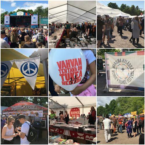 Aurinkoiset tunnelmat Maailma Kylässä -festivaaleilla vuonna 2016