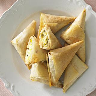 Three Cheese Filo Triangles
