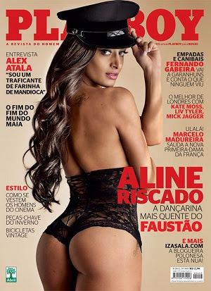 7 Download   Aline Riscado   Revista Playboy   Junho 2012