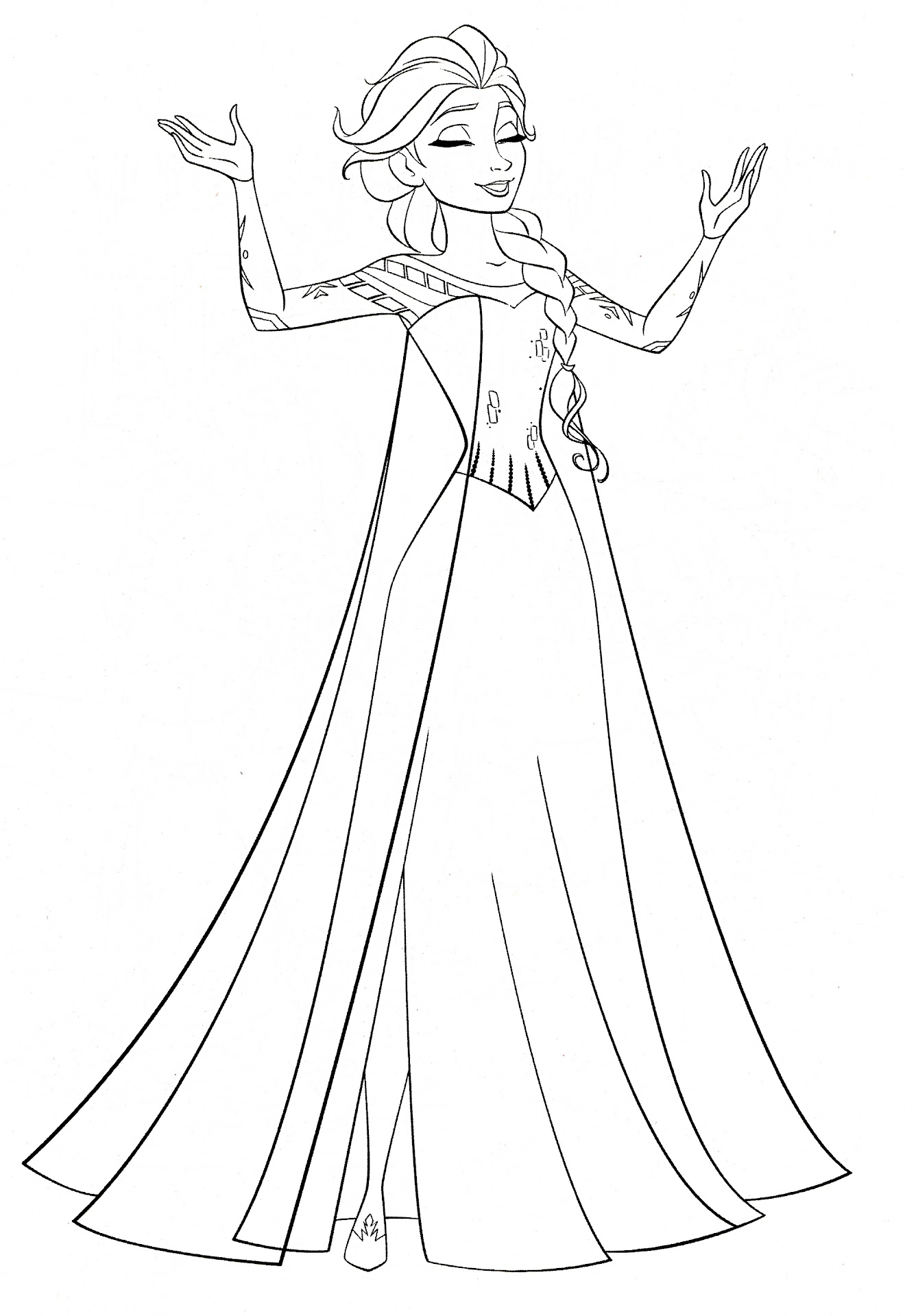 Walt Disney Coloring Page Of Queen Elsa From Frozen Hd Wallpaper And Background Photos Pages For Fans