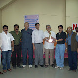 10. K Subba Raju, President APSBA and M Ranga Reddy Chairman organising committee with others with Krishna Murthy memorial trophy for pairs won by Dr K Srinivas and K Krishna Kumar