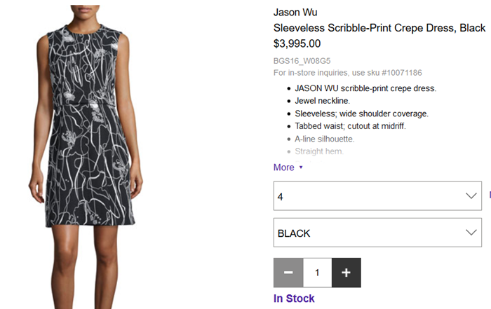 jason wu scribble dress invictus