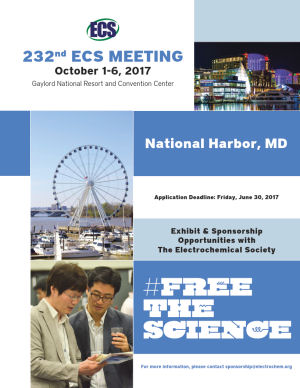 visit us at 232nd ECS Meeting