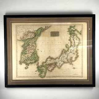 19th C. Engraved Map 'Corea and Japan'