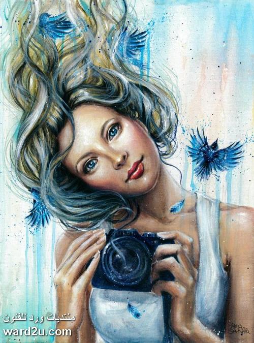 بورتريهات بالالوان المائية Tanya Shatseva
