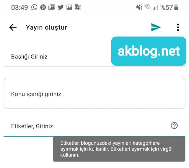 Blogger Mobil Uygulaması