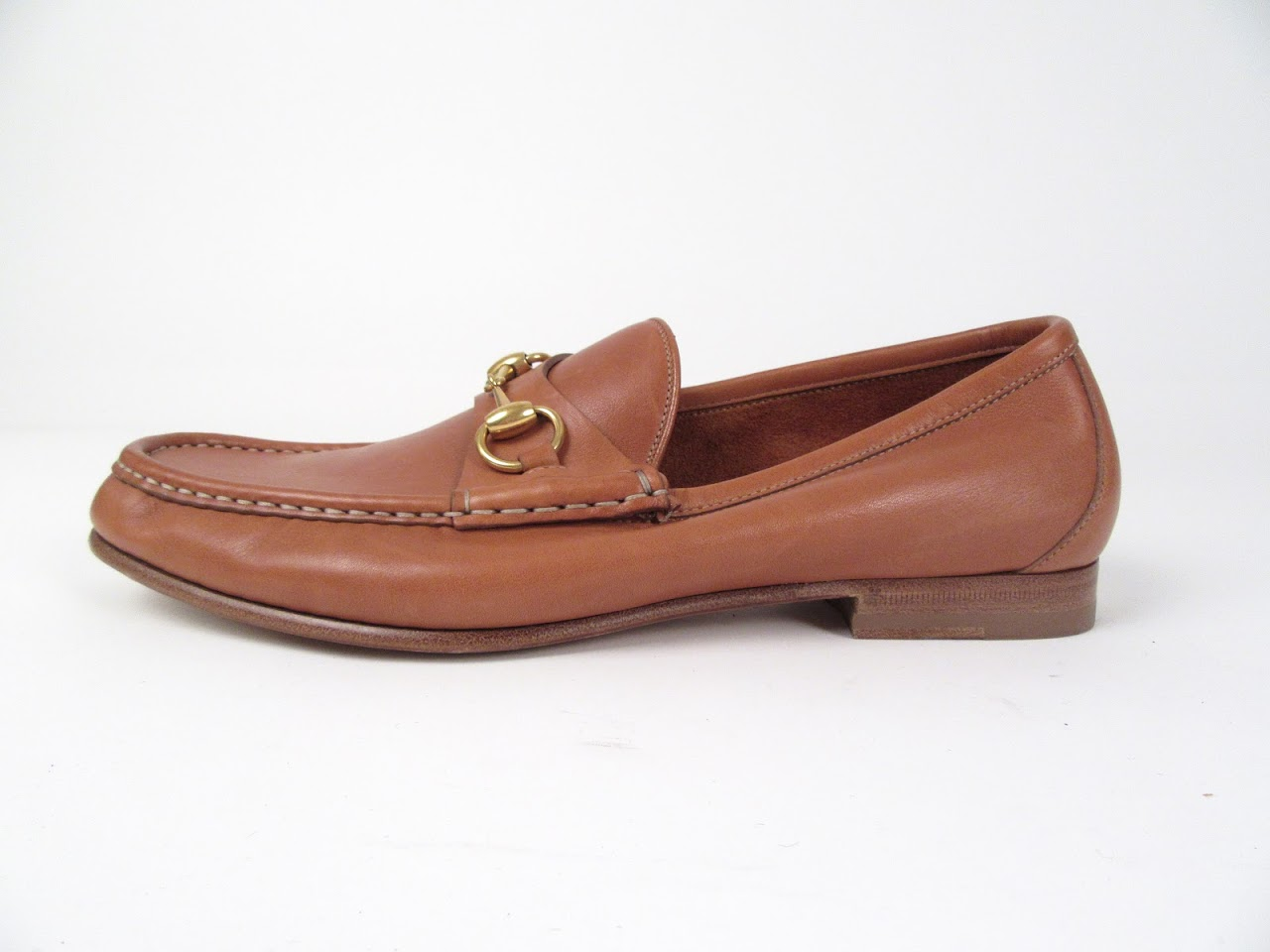 Gucci Tan Leather Loafers