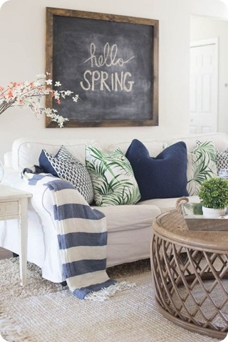 making home base spring living room