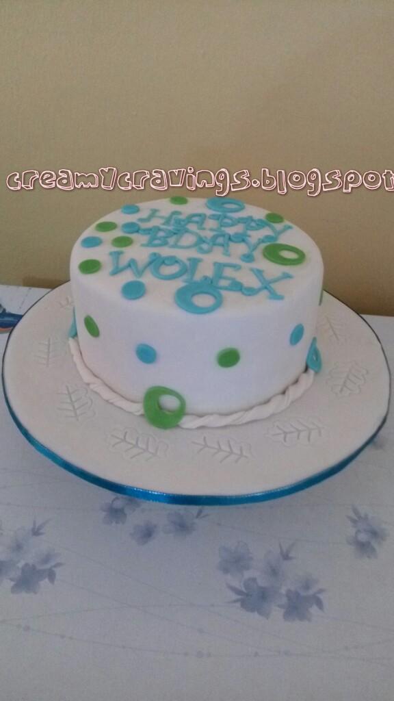 Very Simple Elegant Birthday Cake