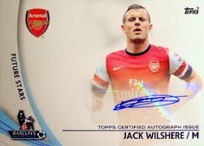 Jack Wilshere Topps Premier Gold 2013 jersey