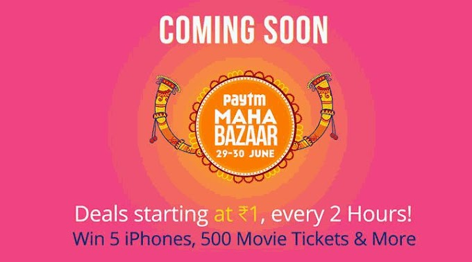 (Live) Paytm Maha Bazaar - Buy Products Starting From Rs.1 (30th - 31st August)