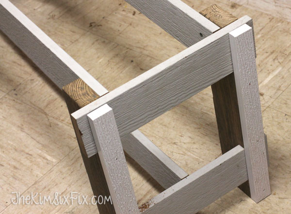 Assembling water proof bench