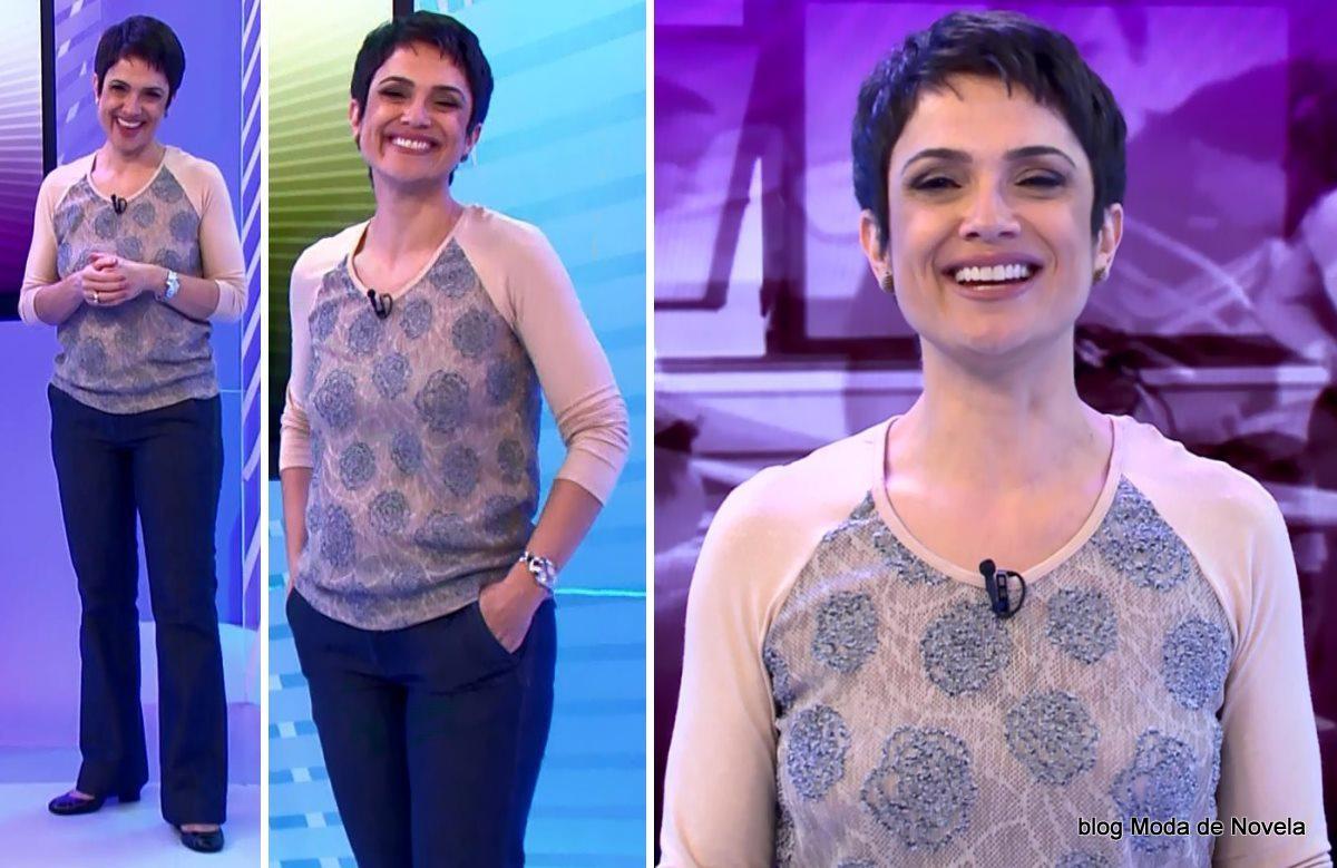 moda do programa Globo Ação - look da Sandra Annenberg dia 31 de maio
