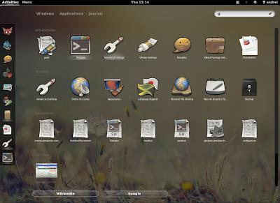 GNOME Shell Zeitgeist