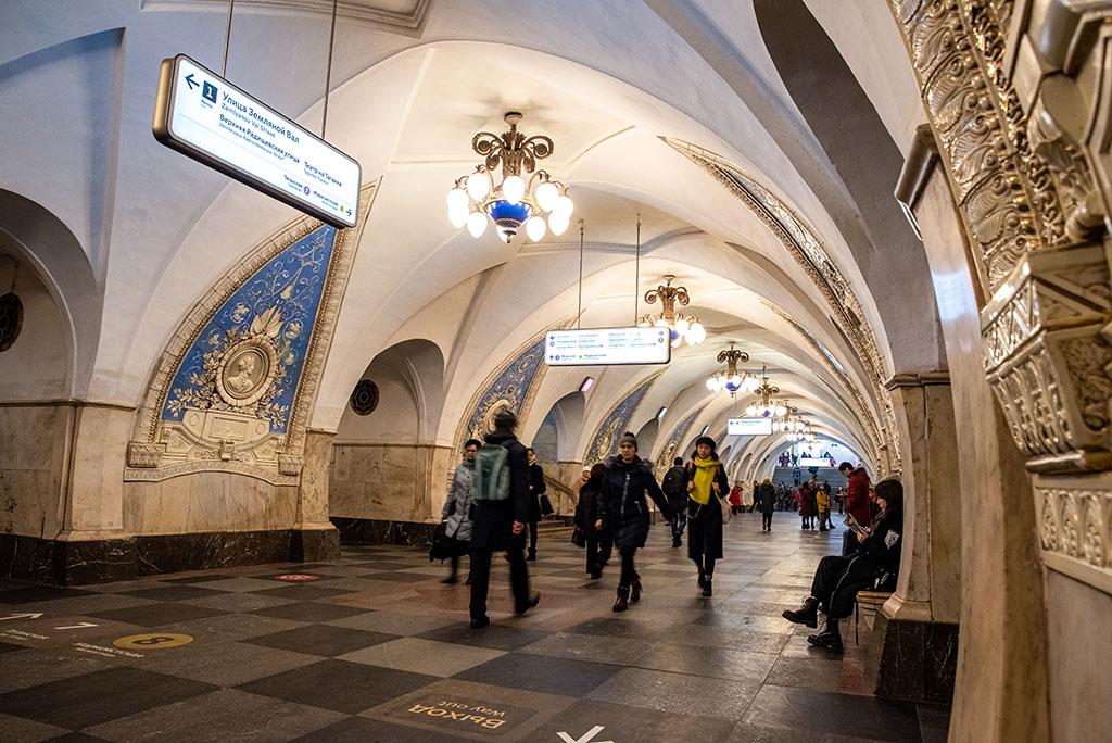 俄羅斯 莫斯科 地鐵站 Moscow metro Taganskaya