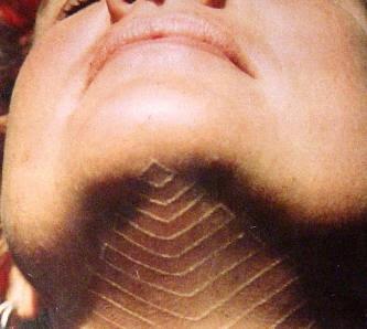 white ink neck tattoos for men