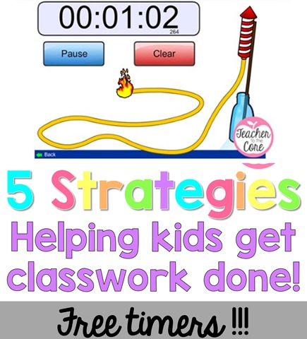 Some kids need a visual aid to help them understand that they are running out of time. These free timers totally help