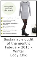 sustainable outfit of the month winter edgy chic
