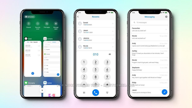 iOS 11 MIUI 11 Theme