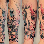 Abstract Ladies Sleeve tattoo