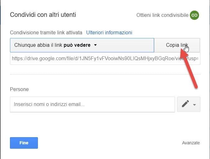 copiare-link-condivisibile