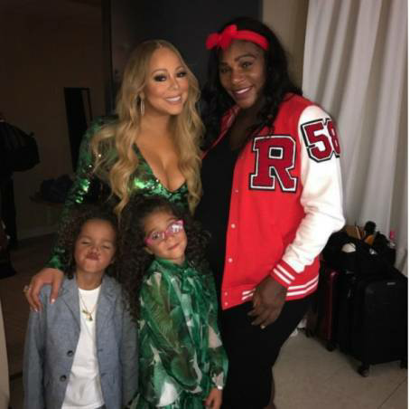 Mariah Carey and her kids pictured with Serena Williams