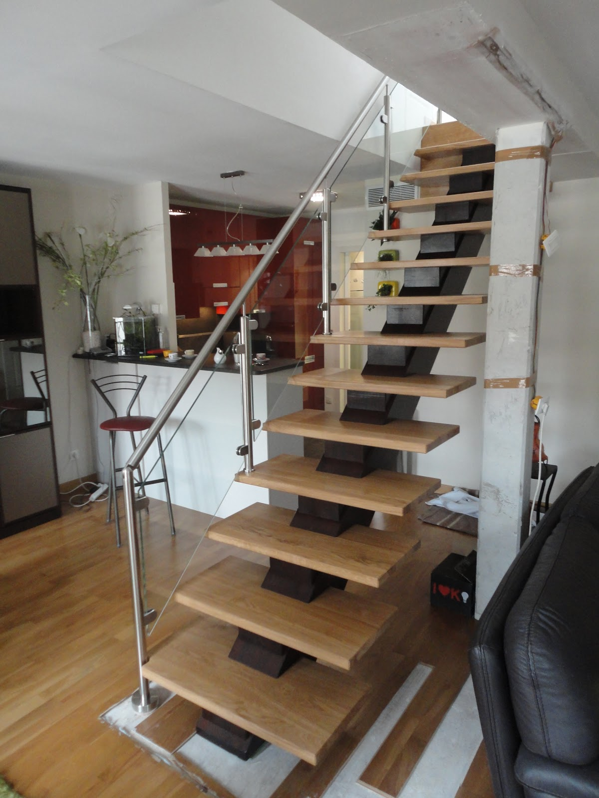 b nisterie matacchione et fils escalier en ch ne avec. Black Bedroom Furniture Sets. Home Design Ideas