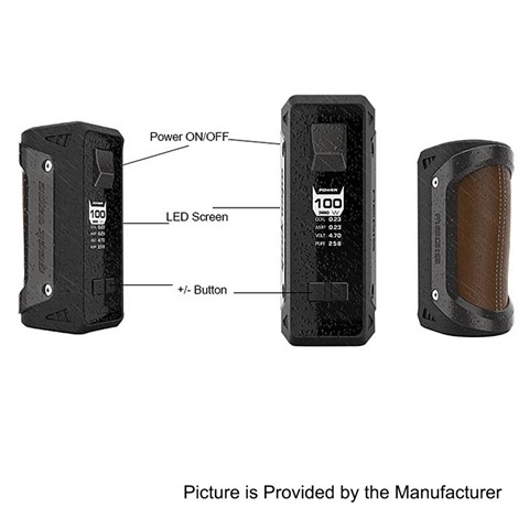 authentic geekvape aegis 100w water proof tc vw variable wattage box mod black zinc alloy 5100w 1 x 18650 26650%2B%25281%2529 thumb%255B3%255D - 【期待の新製品】「GeekVape AEGIS 100W TC BOX MOD」耐衝撃、防水、防塵のMOD!!18650/26650両対応の最高クラスMOD