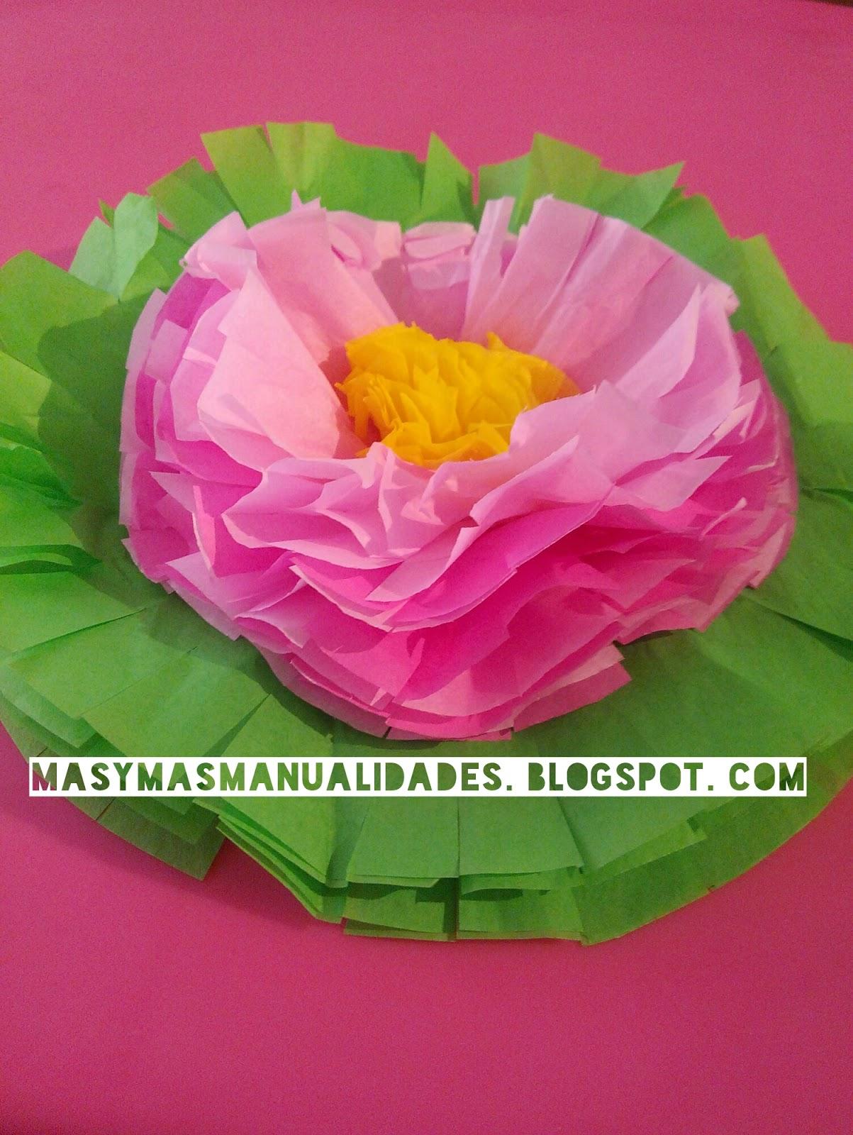 Cómo Hacer Flores De Papel De Seda Para Una Mesa De Fiesta