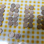 left over Korean currency in Seoul, Seoul Special City, South Korea