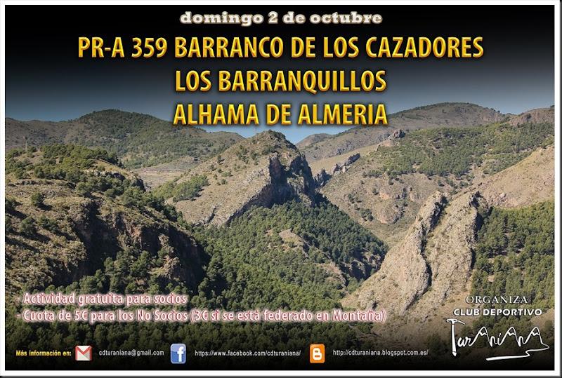 Cartel Barranco de los Cazadores-Alhama