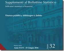 Supplementi al Bollettino Statistico. Giugno 2016