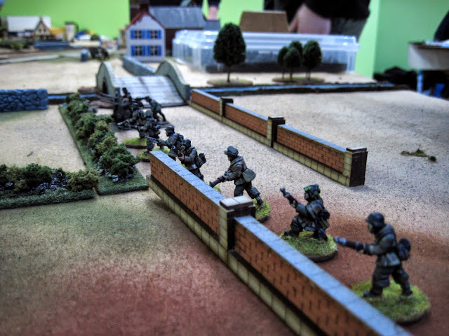 The Germans had to defend.