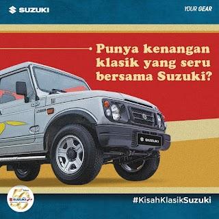 Mau Hadiah, Ceritakan Foto Kenangan Klasik Mobil dan Motor Suzuki