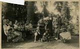 1936 castello - francesca orecchia, carolina peretta, lide borelli, iolanda vignoli, maria roggero (1914-1978), conti,  parodi, teresa orecchia, maddalena sutti