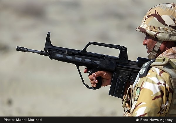 Bullpup Version Of G-3 In Iran Army 600X418  Militaryporn-1596