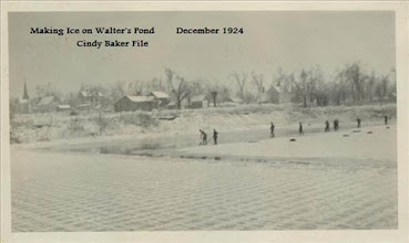 Photo: J. Brown's Ice Factory on Walter's Lake making ice - 1924 - Cindy Baker File