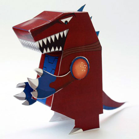 Super Kaiju Hero Force Papercraft Democules