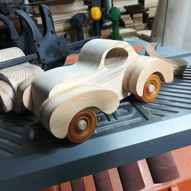 Handmade Wood Toy Car Fat Fendered Freaky Ford Coupe