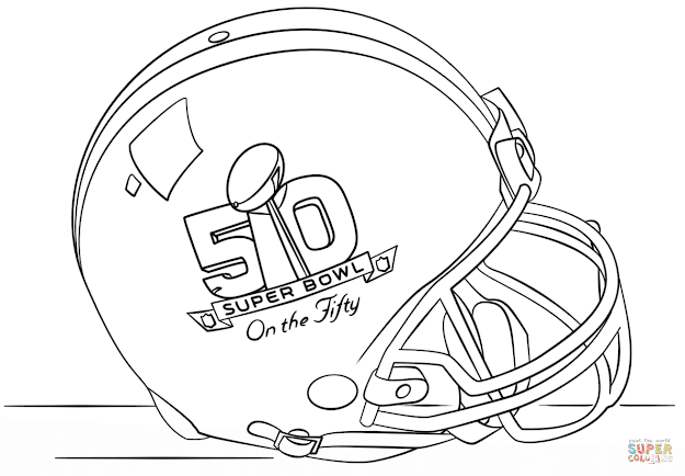 Football Helmet Coloring Pages With Superbowl Coloring Pages
