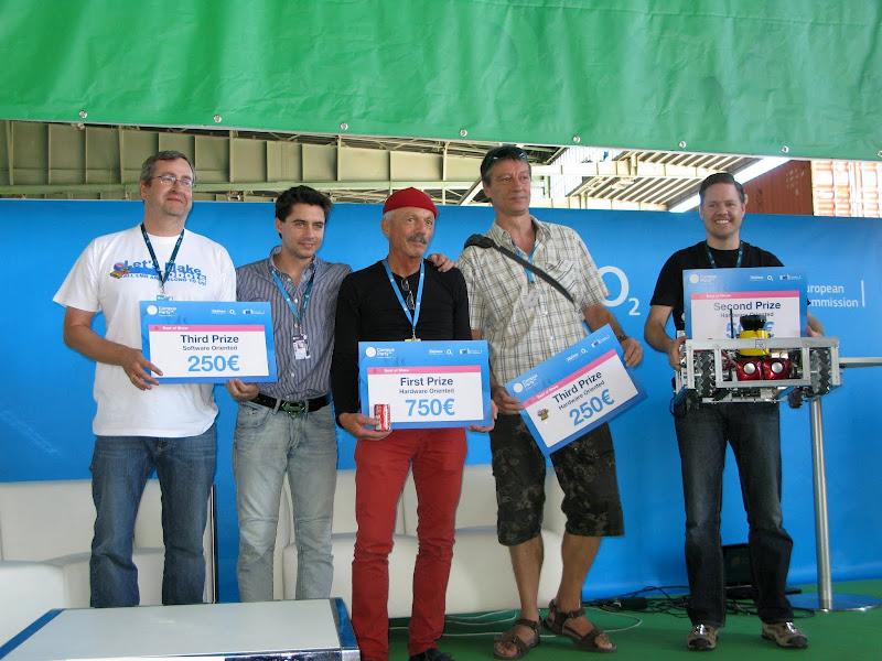 Photo: Soem of the winners